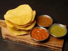 Chips and dips at the new Coche Comedor,