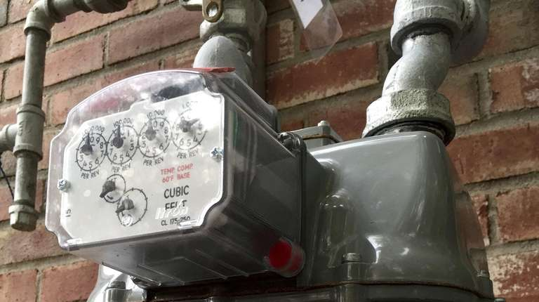 A commercial gas meter in Riverhead for National