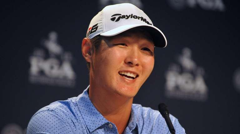 Danny Lee speaks to the media after the