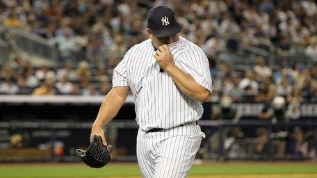 Bartolo Colon #40 of the New York Yankees