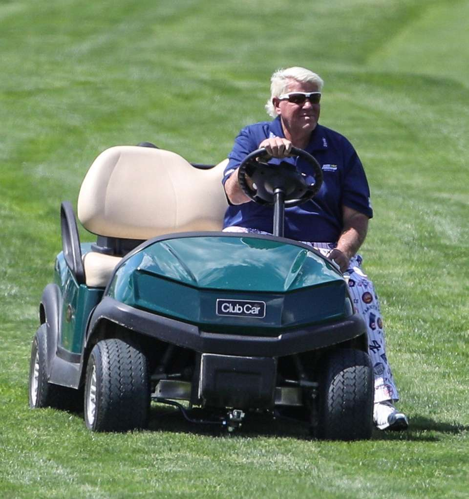 John Daly drives the 16th fairway at the