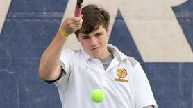 Ronan McCormack, part of the winning doubles team