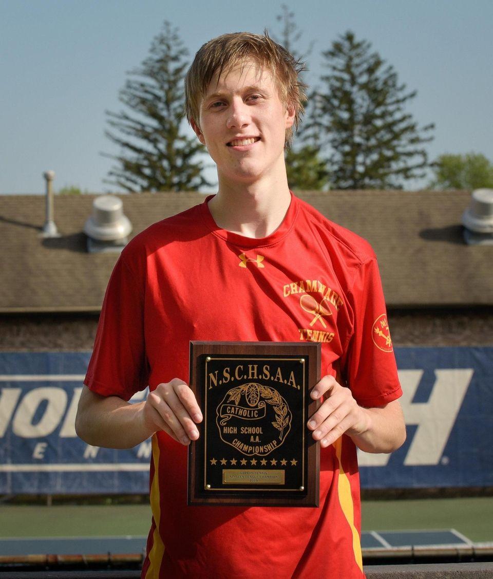 Evan Brady, a senior at Chaminade High School,