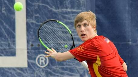 Evan Brady of Chaminade prepares to hit forehand