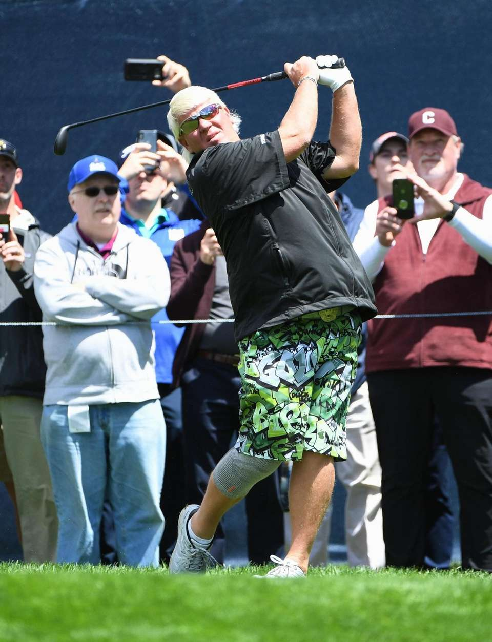 John Daly tees off at the 3rd hole