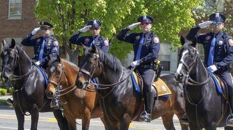 Nassau police hold a memorial ceremony for all
