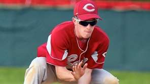 Clarke second baseman Nick Campagnuolo grabs the ground