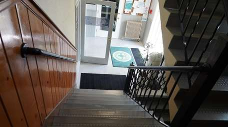 Staircase from the second floor to the first