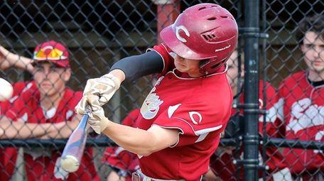 Clarke's Tyler Cox Drives a home run 350