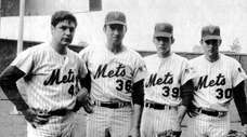 The 1969 Mets' pitching staff included, from left,