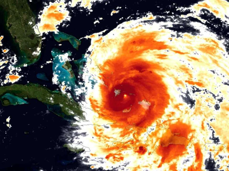 This NOAA GOES-East satellite infrared image was taken