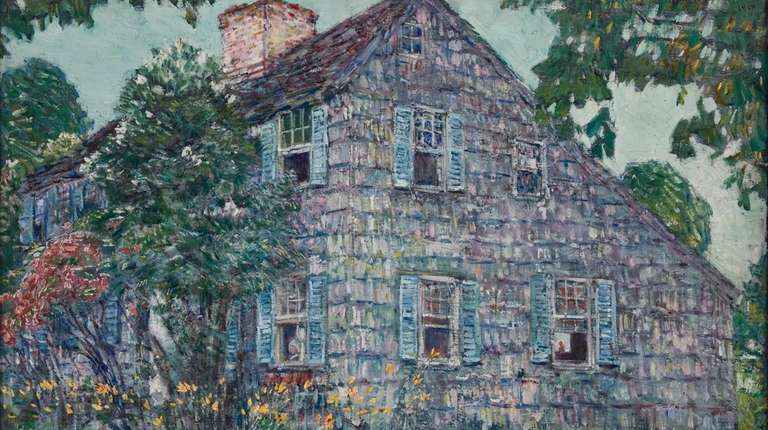 """Childe Hassam's """"Old House East Hampton"""" is featured"""