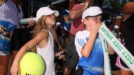 Fans attend Arthur Ashe Kids Day at the