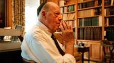 Herman Wouk at his home office in the