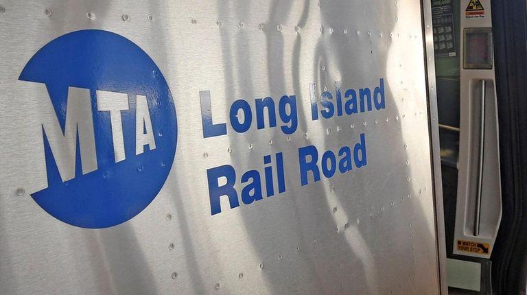 A Long Island Rail Road train at Hicksville.