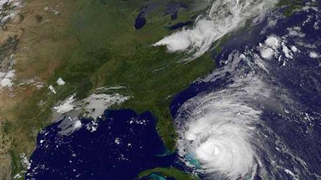 Hurricane Irene in the Caribbean Sea, moving toward
