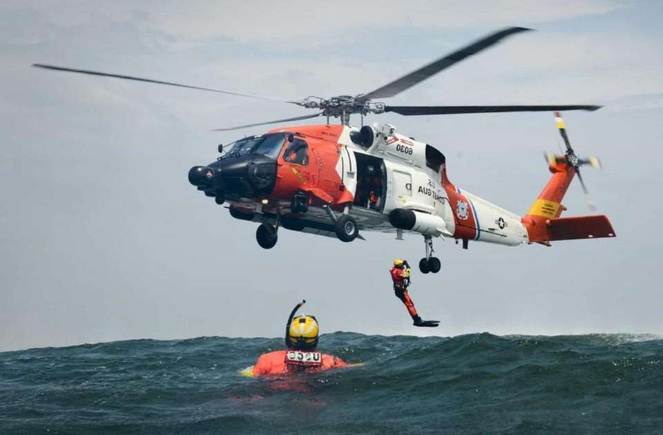 The Coast Guard Search and Rescue Team will