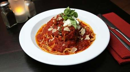 Spaghetti and meatballs was one of the signature