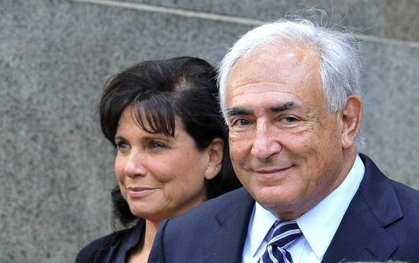 Dominique Strauss-Kahn and his wife Anne Sinclair leaving