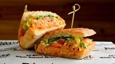 This Buffalo chicken sandwich is on the menu