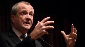 New Jersey Governor Phil Murphy delivers remarks at