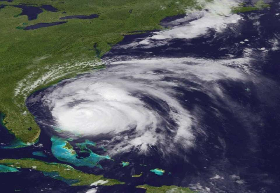 Hurricane Irene in an image made by the