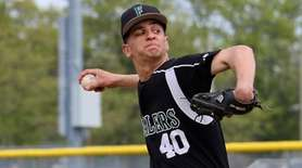 Farmingdale starting pitcher Justin Rosner delivers a pitch