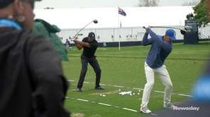 Tiger Woods and Brooks Koepka teed off at the