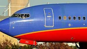 Southwest jet at Islip