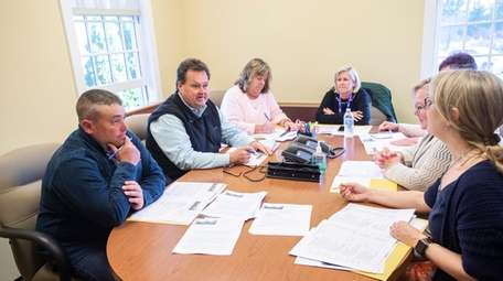 Wainscott School Board of Trustees, meets for a