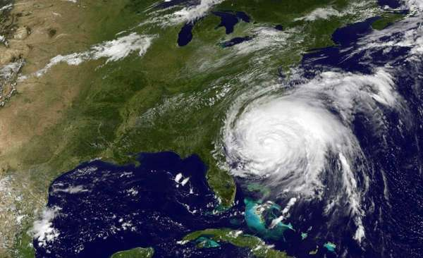 This NASA/NOAA GOES Project image shows Hurricane Irene