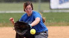 SCCC shortstop Heather Cicinnati during practice at