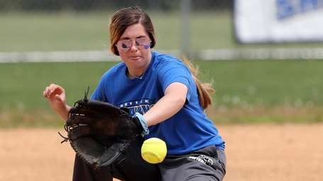 SCCC shortstop Heather Cicinnati during practice at