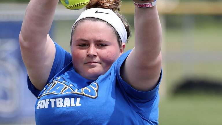 SCCC pitcher Karisa Lawrence during practice at the