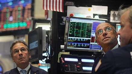 On the floor of the New York Stock