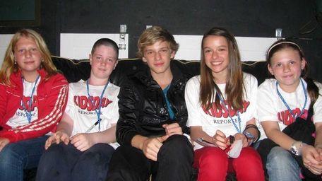 Kidsday reporters Victoria Zeman, Aidan Krumholz, Francesca Mollo