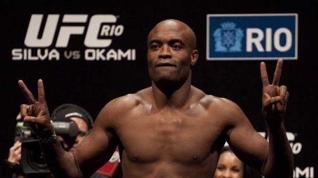 Brazilian Mixed Martial Arts (MMA) fighter Anderson Silva,