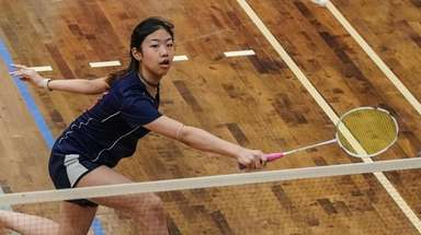 Kayla Wu of Great Neck South competes in