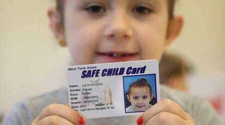 Six-year-old Lia Nicosia of Bayport got her New