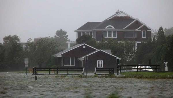 Water raises near a house in Westhampton Beach