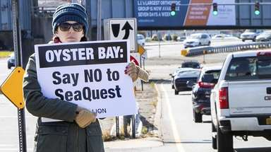 Kimberly Nye of Massapequa participates in a PETA