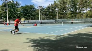 Syosset's Kabir Rajpal won the Nassau boys tennis