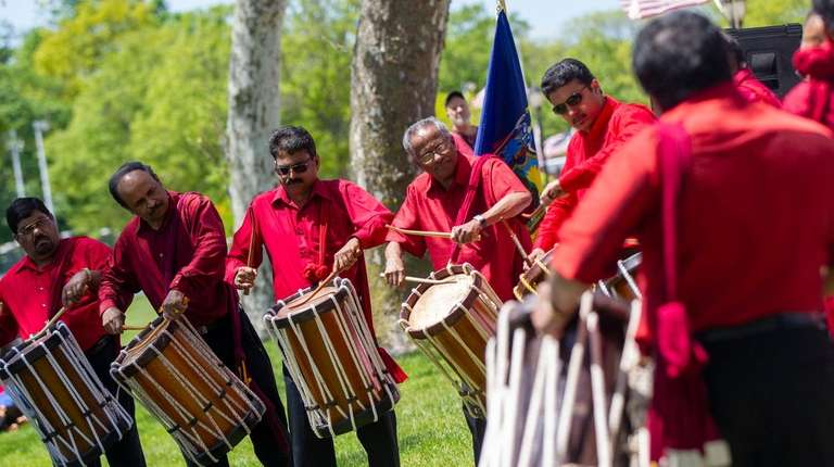 Drummers from the Kerala Cultural Association perform at