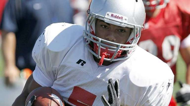 Stony Brook running back Miguel Maysonet during practice.
