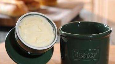 The Butter Bell crock from L. Tremain keeps