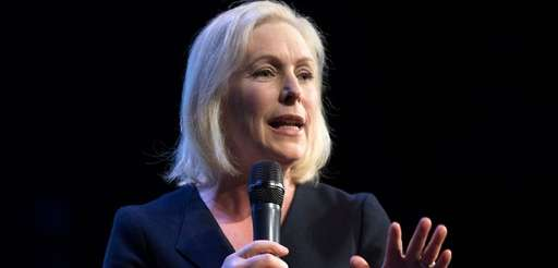 Democratic presidential hopeful Sen. Kirsten Gillibrand speaks at