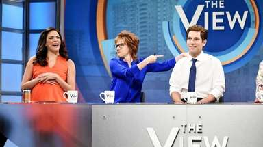 From left, Cecily Strong as Abby Huntsman, Kate