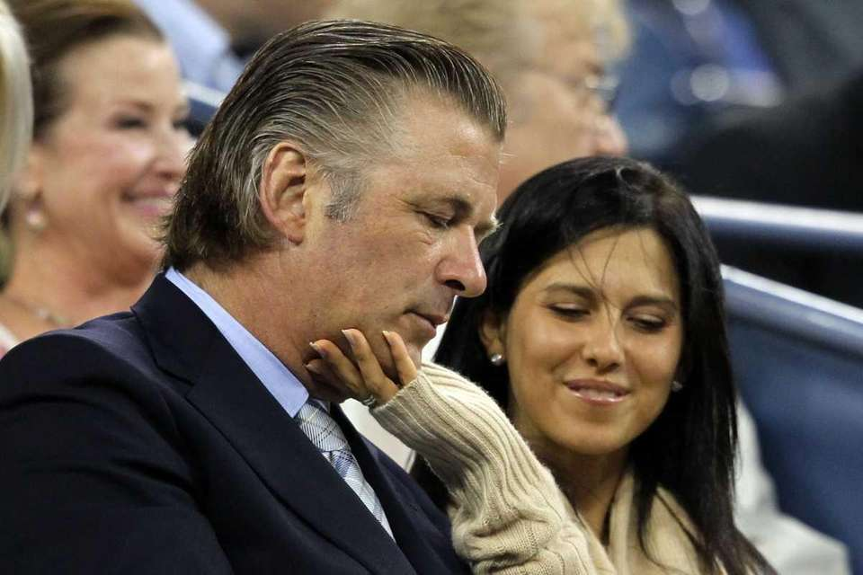 Alec Baldwin and Hilaria Thomas attend the opening