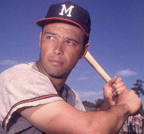 EDDIE MATHEWS: 512 - Played 1952-68 (17 seasons)