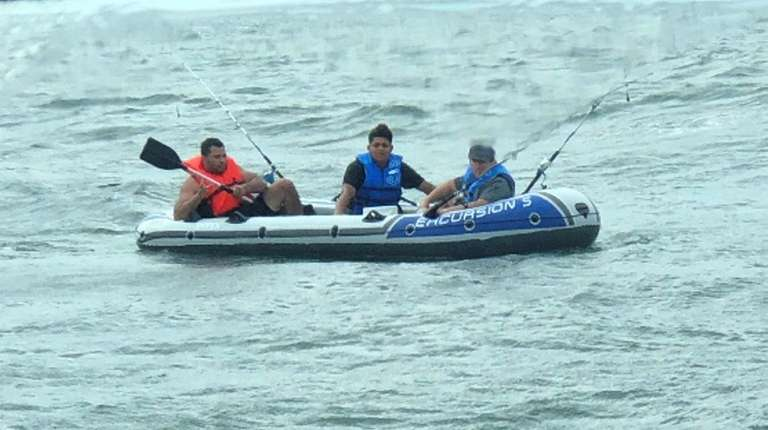 Long Island Bureau.3 On Inflatable Raft Rescued From Long Island Sound Cops